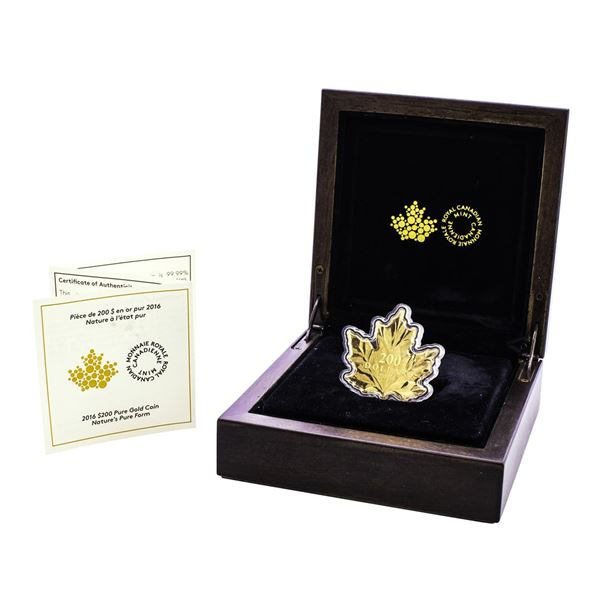 2016 $200 Canada Gold Maple Leaf Nature's Purest Form Coin w/Box & COA
