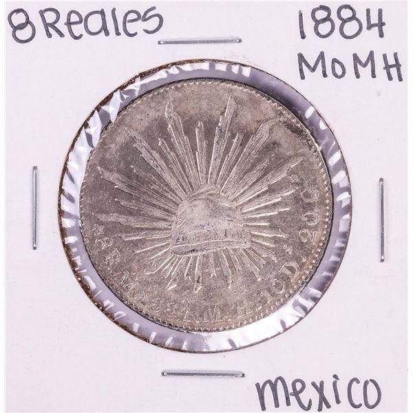1884 Mo MH Mexico 8 Reales Silver Coin