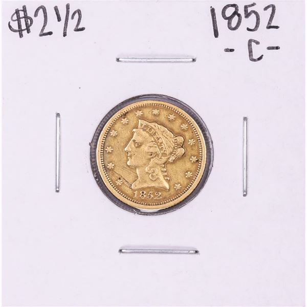 1852-C $2 1/2 Liberty Head Quarter Eagle Gold Coin