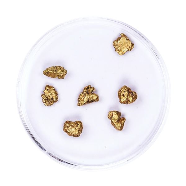 Lot of Gold Nuggets 3.08 grams Total Weight