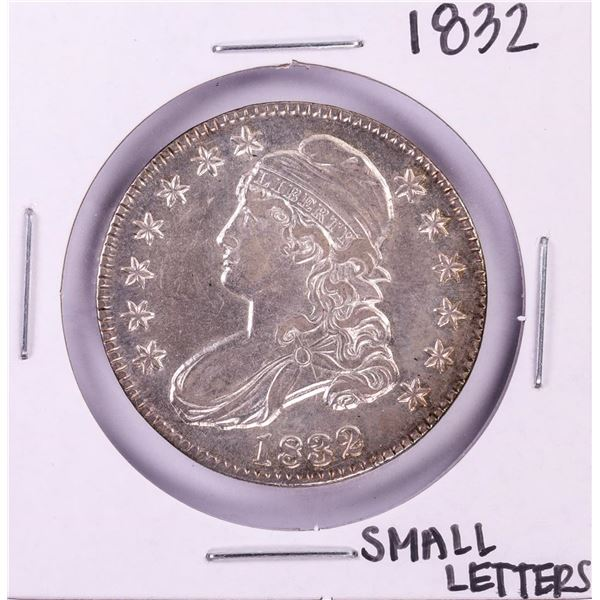 1832 Small Letters Capped Bust Half Dollar Coin