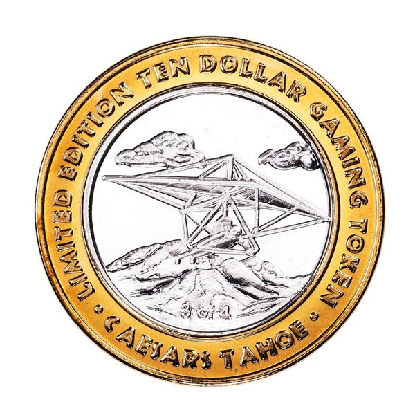 .999 Fine Silver Caesars Tahoe Lake Tahoe, Nevada $10 Limited Edition Gaming Token