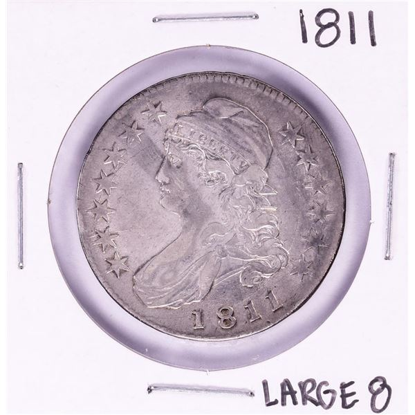 1811 Large 8 Capped Bust Half Dollar Coin