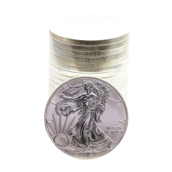 Roll of (20) Brilliant Uncirculated 2015 $1 American Silver Eagle Coins