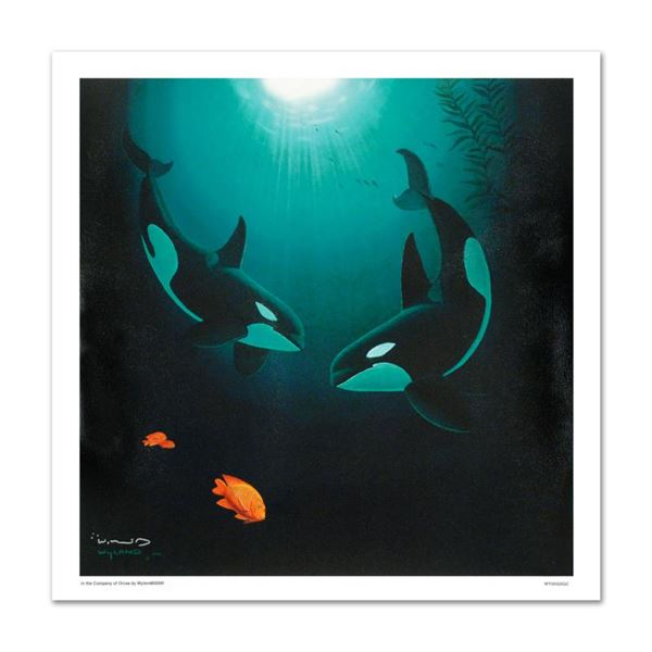 """Wyland """"In The Company Of Orcas"""" Limited Edition Giclee On Canvas"""