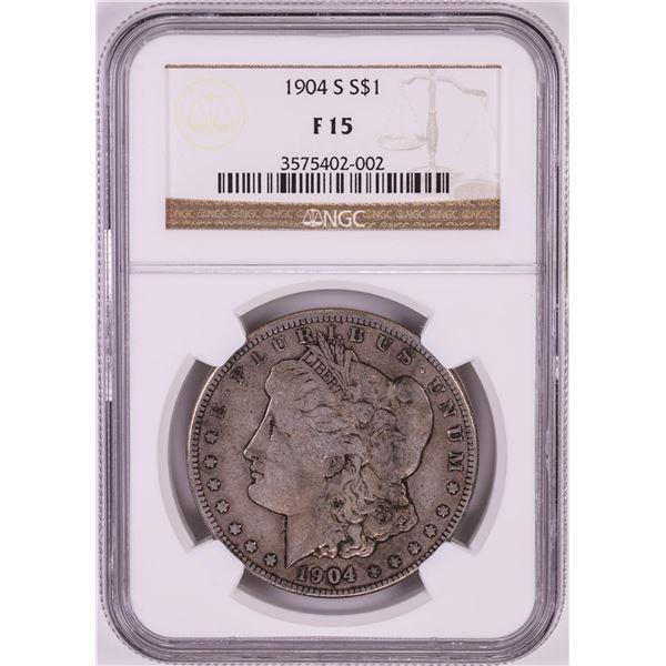 1904-S $1 Morgan Silver Dollar Coin NGC F15