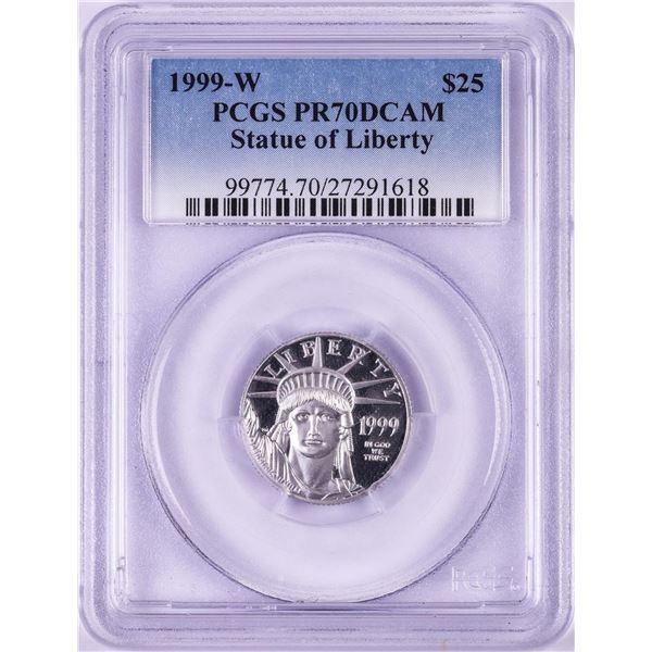 1999-W $25 Proof Platinum American Eagle Coin PCGS PR70DCAM