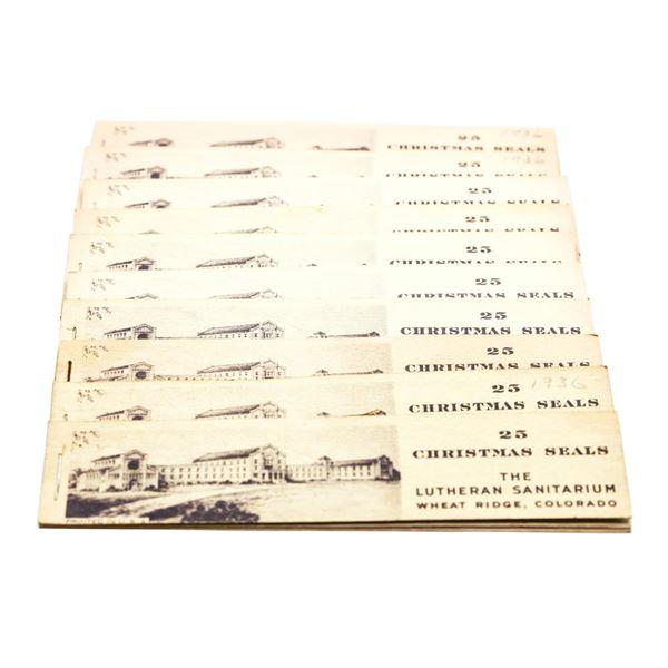 Lot of (10) 1936 Christmas Seals Books Wheat Ridge Colorado