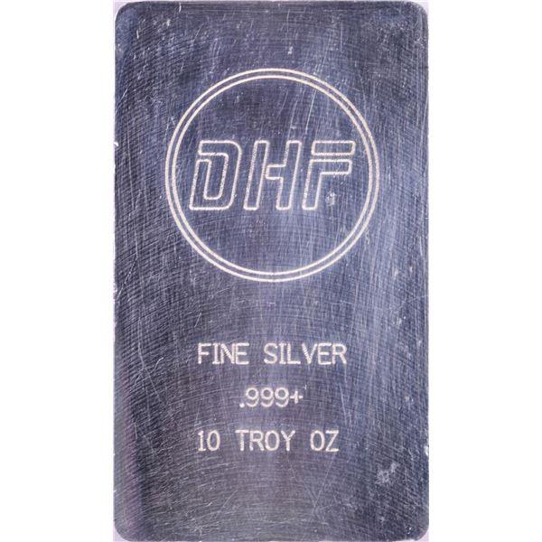 DHF 10 Troy Ounce .999 Fine Silver Bar