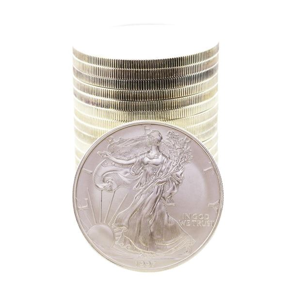 Roll of (20) Brilliant Uncirculated 1997 $1 American Silver Eagle Coins