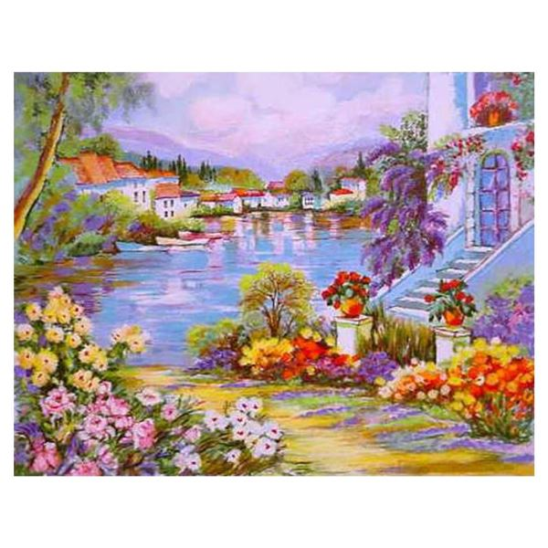 """Zina Roitman """"River Side"""" Limited Edition Serigraph On Paper"""