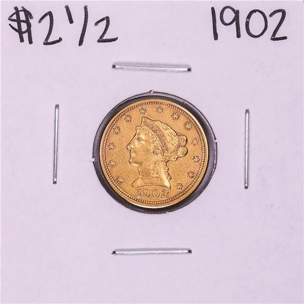 1902 $2 1/2 Liberty Head Quarter Eagle Gold Coin