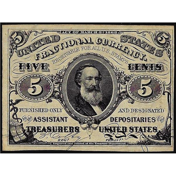 March 3, 1863 Third Issue Five Cents Fractional Currency Note