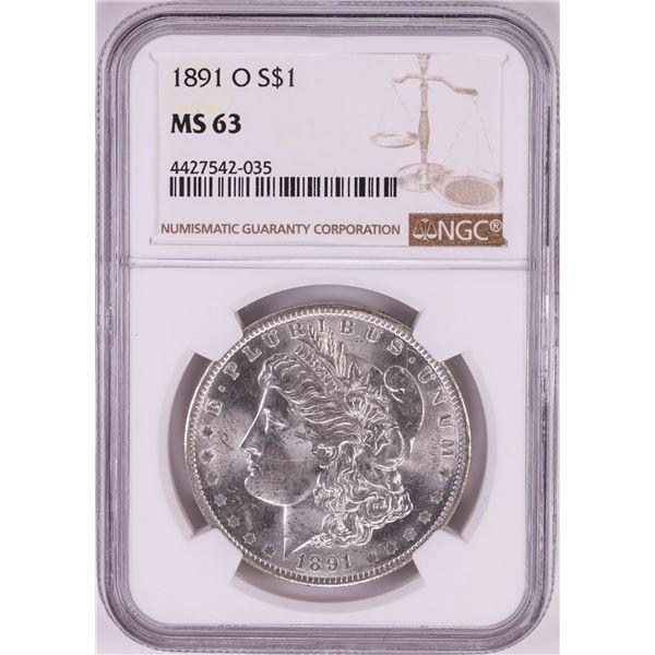 1891-O $1 Morgan Silver Dollar Coin NGC MS63
