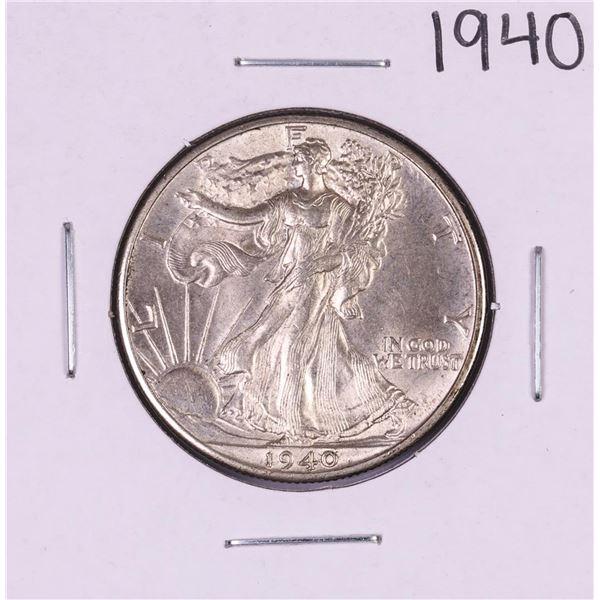 1940 Walking Liberty Half Dollar Coin