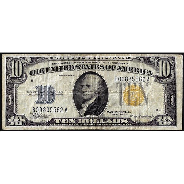 1934A $10 North Africa WWII Emergency Issue Silver Certificate Note