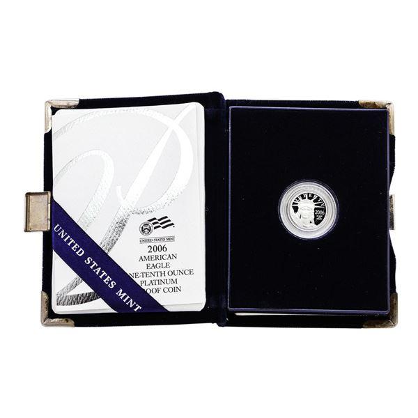 2006-W $10 Proof Platinum American Eagle Coin w/Box & COA
