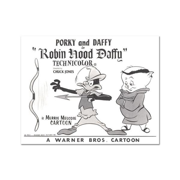 """""""Robin Hood Daffy Lobby Card Litho"""" Limited Edition Lithograph On Paper"""