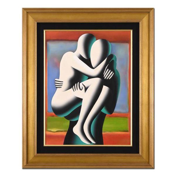 "Mark Kostabi ""Perfect Memory"" Framed Original Oil Painting on Canvas"