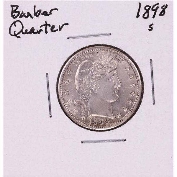 1898-S Barber Quarter Coin
