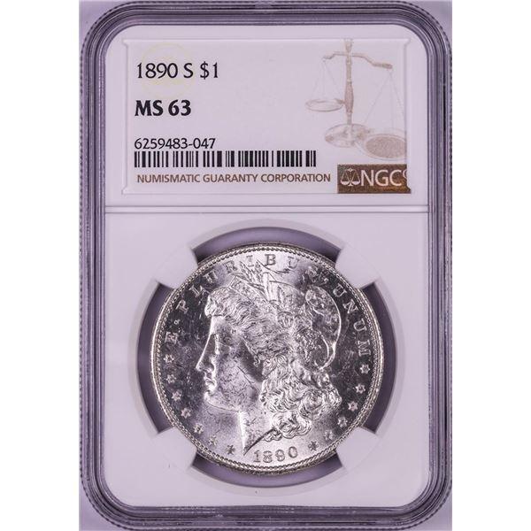 1890-S $1 Morgan Silver Dollar Coin NGC MS63
