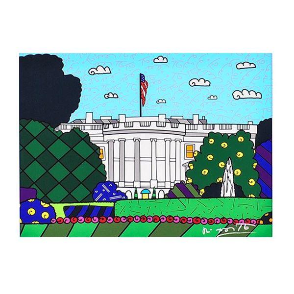 """Romero Britto """"1600 Pennsylvania Avenue"""" Limited Edition Giclee On Canvas"""