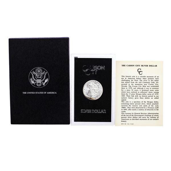 1884-CC $1 Morgan Silver Dollar Coin GSA Hoard with Box