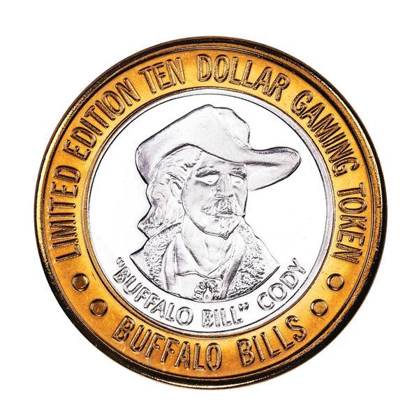 .999 Silver Buffalo Bills Resort & Casino Primm, NV $10 Limited Edition Gaming Token