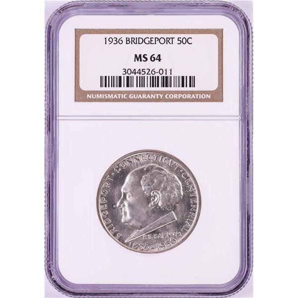 1936 Bridgeport Commemorative Half Dollar Coin NGC MS64