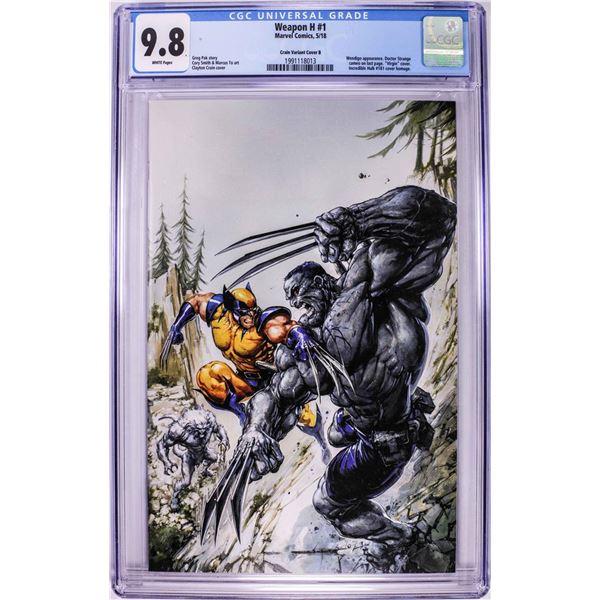 Marvel Comics Weapon H #1 Comic Book 5/18 CGC 9.8 Crain Variant Cover B