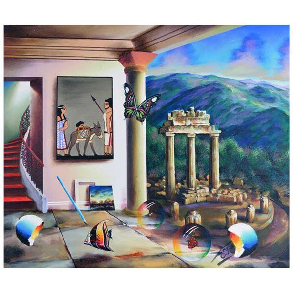 "Ferjo ""Egyptian Ruins"" Original Oil On Canvas"