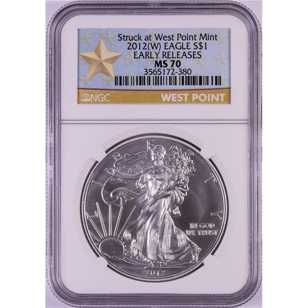 2012(W) $1 American Silver Eagle Coin NGC MS70 Early Releases