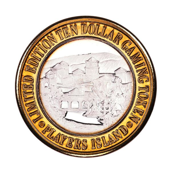 .999 Fine Silver Players Island Mesquite, NV $10 Casino Limited Edition Gaming Token
