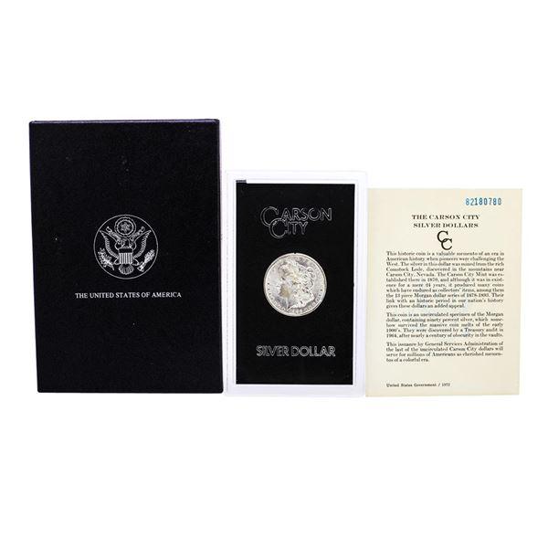 1882-CC $1 Morgan Silver Dollar Coin GSA Hoard with Box & COA