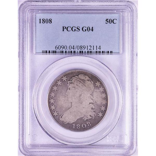 1808 Capped Bust Half Dollar Coin PCGS G04