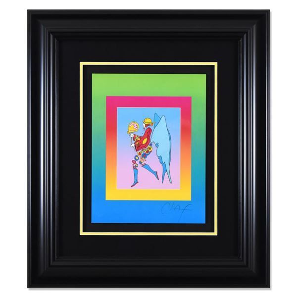 """Peter Max """"Tip Toe Floating on Blends"""" Limited Edition Lithograph on Paper"""