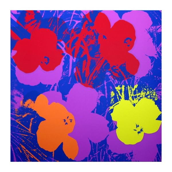 """Andy Warhol """"Flowers 1166"""" Print Serigraph On Paper"""