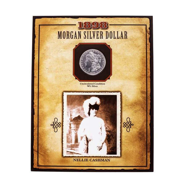 1898-O $1 Morgan Silver Dollar Coin Nellie Cashman Legends of the Wild West