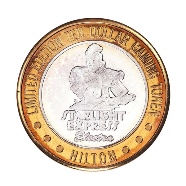 .999 Fine Silver Hilton Starlight Las Vegas $10 Casino Limited Edition Gaming Token