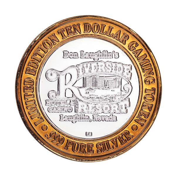 .999 Silver Riverside Resort Hotel & Casino $10 Limited Edition Gaming Token