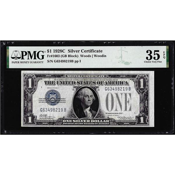 1928C $1 Silver Certificate Note Fr.1603 PMG Choice Very Fine 35EPQ