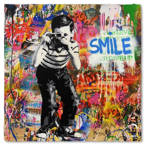Mr. Brainwash  Smile  One-of-a-Kind Hand Signed Original Mixed Media