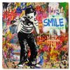 """Image 1 : Mr. Brainwash """"Smile"""" One-of-a-Kind Hand Signed Original Mixed Media"""