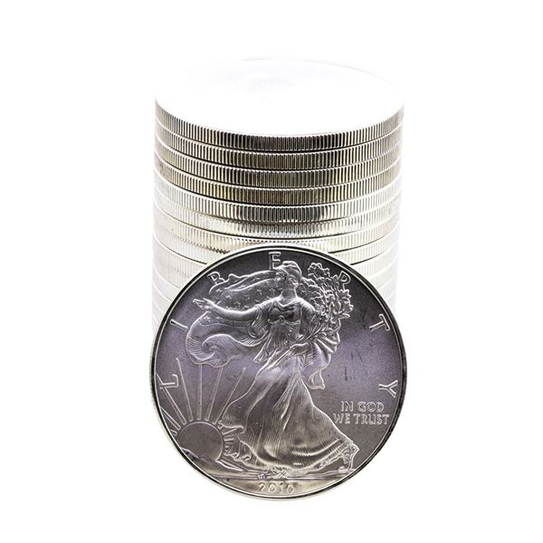 Roll of (20) Brilliant Uncirculated 2010 $1 American Silver Eagle Coins