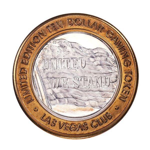 .999 Silver Las Vegas Club $10 Casino Limited Edition Gaming Token