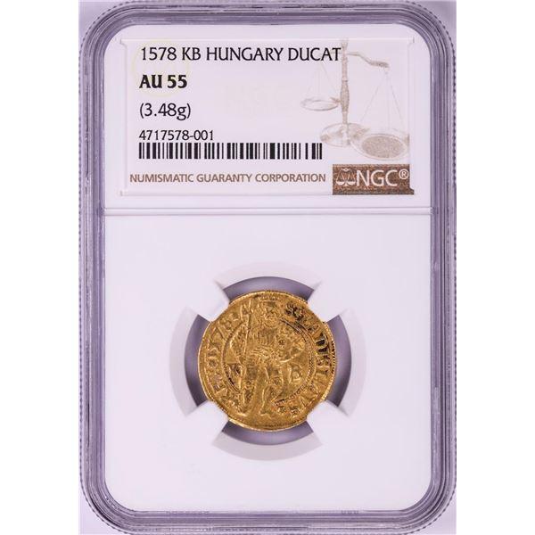 1578KB Hungary Ducat Gold Coin NGC AU55