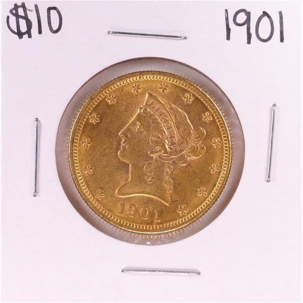 1901 $10 Liberty Head Eagle Gold Coin