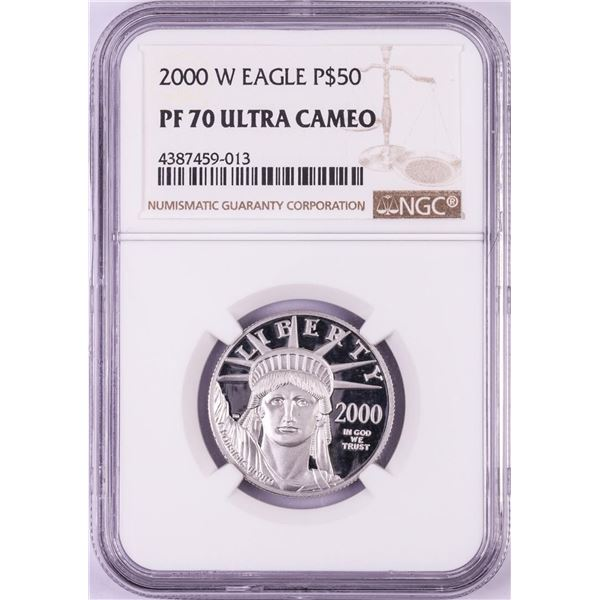 2000-W $50 Proof Platinum American Eagle Coin NGC PF70 Ultra Cameo