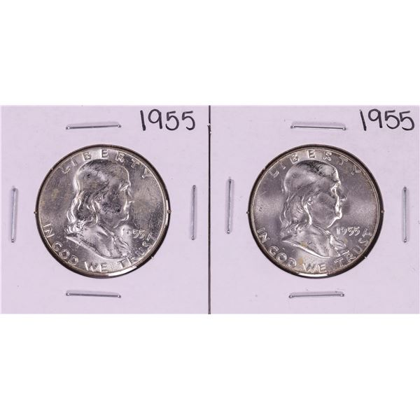 Lot of (2) 1955 Bugs Bunny Franklin Half Dollar Coins