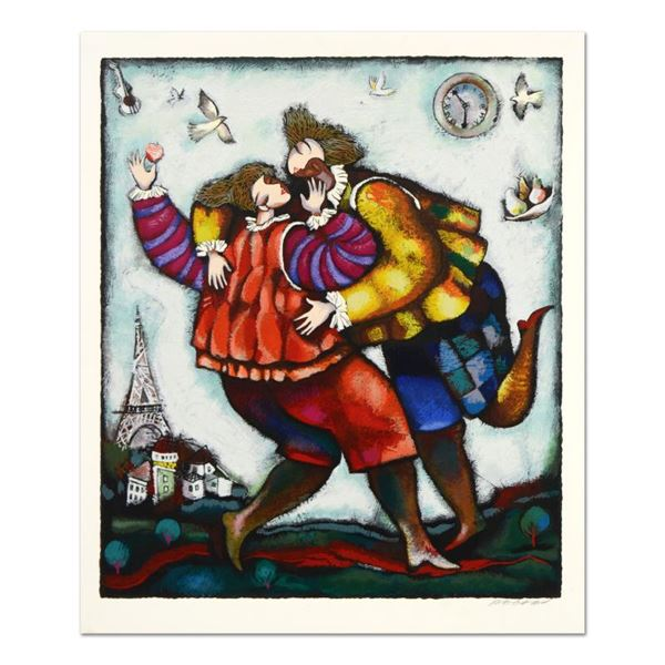 """Michael Kachan """"The Kiss"""" Limited Edition Serigraph On Paper"""